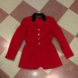Veg Ralph Lauren red long blazer 4 velvet lapel